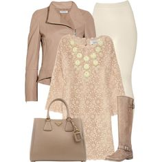 """""""Nude & Taupe"""" by chelseagirlfashion on Polyvore"""