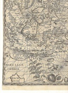 Map World map Spice Islands Borneo Antique world by mapsandposters, $9.99
