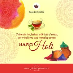 Wishing you all a colourful and joyous #HappyHoli.