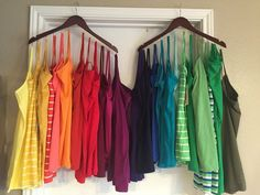 46 super simple home decoration storage method page 18 of 46 spring cleaning organize a craft space in 5 days Tank Top Organization, Wardrobe Organisation, Closet Organization, Organizing, Tank Top Storage, Dresser Drawer Organization, Master Closet, Closet Bedroom, Closet Space