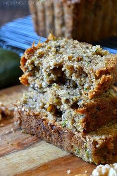 This is the BEST recipe for Zucchini Bread EVER! Studded with buttery walnuts, this perfectly spiced, moist & tender zucchini bread is packed with flavor and is SO EASY!