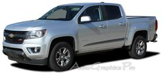 """2016-2017 Chevy Colorado """"RANTON"""" Lower Rocker Panel Accent Factory Bodyside Style Vinyl Graphics Stripes Kit Vinyl Graphic Stripe Decal Kits Vehicle Specific Accent Striping Decals Packages 