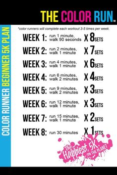 Couch to 5K- The Color Run (okay, maybe its a little undermotivating... Im somewhere between week 6 and 7 2x/week currently... but anyway, lets motivate each other toward that week 8 plan!)