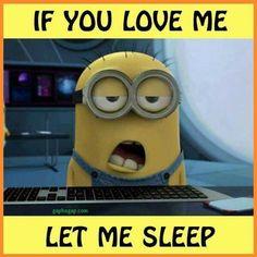 Funny Minion Meme About Sleep LOL