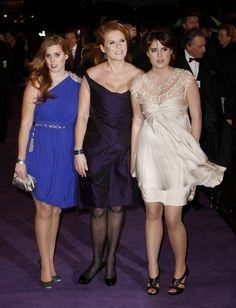 Princess Eugenie Princess Beatrice, Sarah Ferguson The Duchess of York and Princess Eugenie pictured attending the premiere of 'The Young Victoria', held at the Odeon Leicester Square.
