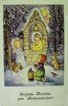 Vintage German Christmas Card by Karte-AFKH-Krüger