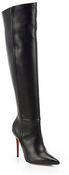 Christian Louboutin Armurabotta 100 Leather Over-The-Knee Boots