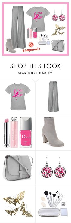 """""""Cancer Awareness with Snamade"""" by donnamarie-s ❤ liked on Polyvore featuring Alexander McQueen, Christian Dior, Wild Diva and Gap"""