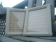 Thrifty Music ~ * THE COUNTRY CHIC COTTAGE (DIY, Home Decor, Crafts, Farmhouse).  TRY THIS WITH CHRISTMAS CAROLS!