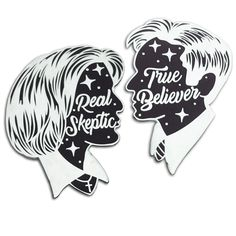 Real Skeptic and True Believer - Lapel Pins