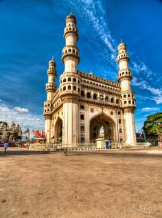 Charminar (four towers) a landmark monument ,Hyderabad,Andhra Pradesh ***