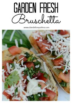 So delicious! Garden fresh bruschetta doesn't get better than this. Check out this recipe from dandelionpatina.com #recipe