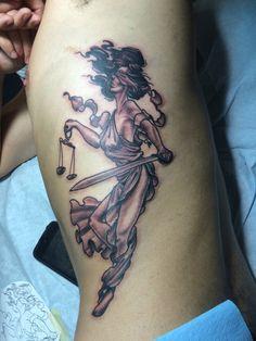 Lady Justice by RJ Grijalva Black Anvil in SDCA