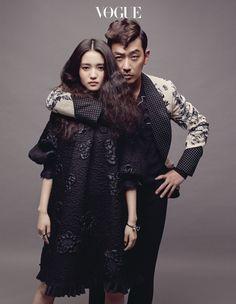 Actress Tae Ri Kim wears Fendi PreFall 2016 for the July issue of Vogue Korea. Look Korean Celebrities, Celebs, Couple Photography, Fashion Photography, Vogue Magazine Covers, Korean Wedding, Poses References, Vogue Korea, Pre Wedding Photoshoot