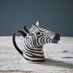 Quail Hand Painted Zebra Jug: This quirky hand painted zebra jug is a fun addition to the table or would equally be a great decorative piece. A Quail Ceramics product that comes packaged in an attractive box.