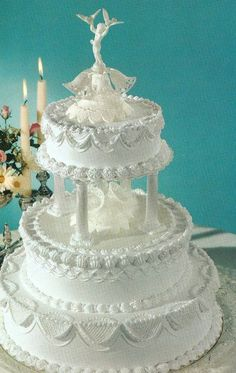 12 Wedding Cakes With Frosting Photo - Simple Wedding Cakes with ...