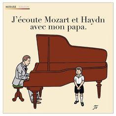 Floc'h / J'écoute Mozart et Haydn avec mon papa (CD Mirare)
