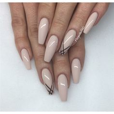 Nude Coffin Nails  by MargaritasNailz from Nail Art Gallery Hot Nails, Manicure, Manucure Pedicure, Fabulous Nails, Gorgeous Nails, Pretty Nails, Neutral Nails, Nude Nails, Claws
