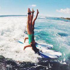 Last Aloha Friday of 2 0 1 4  lets run it hard! Photo: @captain_potter headstand-ers @chelseakauai @ashleyjohnstondesign  #luckywelivehawaii