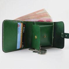 Handmade leather folded vintage women men long wallet clutch phone pur – Annie Jewelry