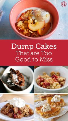 Baking doesn't have to be tricky! These dump dessert recipes call for just a few ingredients, making prep a breeze. Crock Pot Desserts, Easy Desserts, Delicious Desserts, Yummy Food, Crock Pots, Tasty, Dump Cake Recipes, Dessert Recipes, Dump Cakes