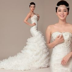 Strapless Trumpet/Mermaid Tulle wedding dress.. This is gorgeous
