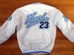 Karl Kani vintage white jacket of 90s hip-hop clothing, size L, RARE!!!