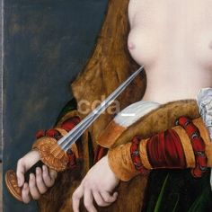 Lucretia 1530 Lucas Cranach the Elder Here again the pannel is folded over. it seems to be part of a whole frontal thing Lucas Cranach, The Royal Collection, Digital Archives, High Resolution Images, 16th Century, Renaissance, Portrait, Period, German