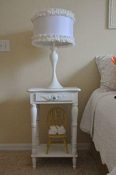 embellishing lamp shades http://laurabrowe.blogspot.com/2011/05/bedazzling-bedside-lamps.html