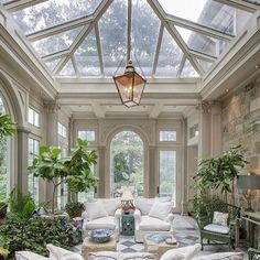 """DECARA HOME on Instagram: """"Another dreamy conservatory 📷 by Kurt Johnson"""" Sunroom Windows, Sunroom Decorating, Decorating Tips, Garden Seating, Outdoor Seating, Design Furniture, Rattan Furniture, Garden Furniture, Home And Deco"""