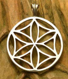 Silver Slavic SVARGA Pendant Sterling Slavonic Nature Flower Sun Symbol Pagan Jewel Jewelry Jewellery Paganism Svarog