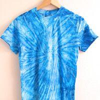 NEON COLLECTION: Sapphire Tie-Dye Unisex Tee