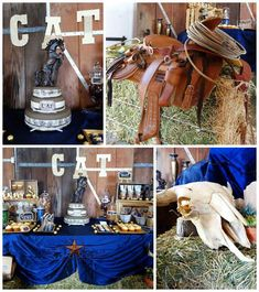 Western themed 55th birthday party with So Many Fun Ideas via Kara's Party Ideas | Cake, decor, cupcakes, games, desserts, and MORE! KarasPartyIdeas.com #westernparty #oldwest #rusticparty #cowboyparty #partydecor #partyideas (2)