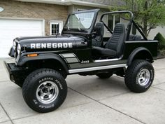 1982 Jeep CJ7 Renegade Black Survivor Restored For Sale Front