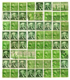 free printable vintage stamps - great for collages & scrapbooking!