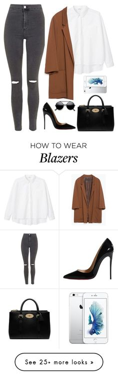 """Untitled #464"" by lelephant on Polyvore featuring Topshop, Christian Louboutin, Monki, Zara and Mulberry"