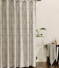 100 Percent Cotton Shower Curtain Moroccan Tile Quatrefoil Lattice 72 Inch By