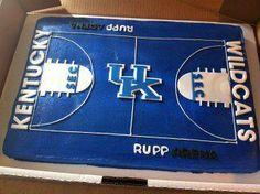 Kentucky Wildcats sheet cake