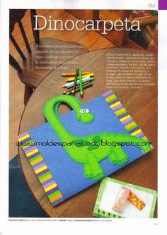 Blog que comparte gratuitamente moldes (patrones) para realizar cualquier tipo de manualidad. Folder Decorado, Summer Crafts, K Crafts, Foam Crafts, Crafts For Kids, Paper Crafts, Folder Diy, File Folder, Material Pedagógico