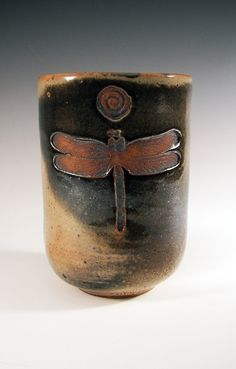 Dragonfly Spiral Meditation Pot by Chris McCormick of BigBearPottery