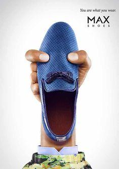 5/5 La marca de zapatos Max nos deleita con unas gráficas humorísticas donde sus productos son los rostros de humanos. #publicidad #DSS #creatividad #ad #print #publicity #advertising