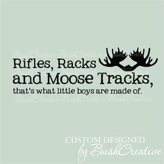 Wall Decals Nursery Rifles Racks and Moose Tracks by bushcreative, $20.00