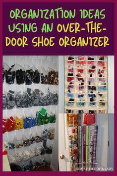 organization ideas using over the door shoe organizer Bedroom Organization Diy, Garage Organization, Organization Ideas, Storage Ideas, Door Shoe Organizer, Diy Garage, Shoe Storage, Diy Crafts, Doors
