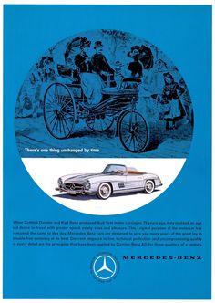 Mercedes-Benz 300 SL Roadster (W 198 II) advertisement, 1961