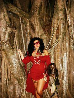 voodoo priestess costume for Halloween! The Seer.
