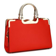 Rose Red Various Colofs Fashion Women Leather Handbags Lady Party Wedding PU Hand Bags