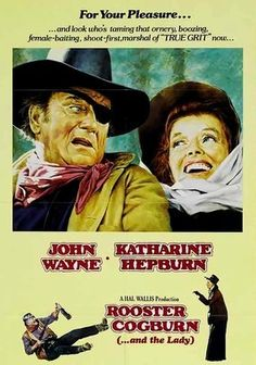 John Wayne returns, eye patch and all, as the irascible Rooster Cogburn in this entertaining sequel to the Oscar-winning True Grit. This time, Wayne gets saddled with prim and proper Eula Goodnight (Katharine Hepburn), a minister's daughter who's more than a match for the cranky U.S. Marshal. The witty and acerbic Hepburn and classic Wayne are a joy to behold.