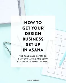 a project management software like Asana can help you save a lot of time in your business while making sure that you stay on task and get things done. So, I'm showing you how you can get your business setup on Asana in just four quick steps! Business Management, Management Tips, Business Planning, Business Tips, Online Business, Business Leaders, Business Software, Business Education, Business Goals