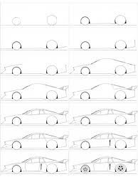 How To Draw A Cartoon Car: Step by Step Tutorial - Cartoon District Car Drawing Easy, Car Drawing Pencil, Drawing For Kids, Pencil Drawings, Drawing Lessons, Drawing Techniques, Drawing Tips, Drawing Sketches, Sketching