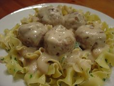 sweddish meatballs and egg noodles - my mom would make these all the time for me!